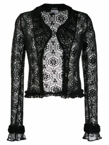 Chanel Pre-Owned 2004's crochet cardigan - Black