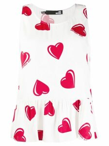 Moschino Pre-Owned 2000's heart printed blouse - White