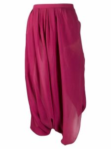 Christian Dior Pre-Owned 1990's draped culottes - Pink