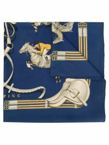 Hermès Pre-Owned Jumping print foulard - Blue