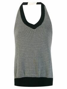 Maison Martin Margiela Pre-Owned backless knitted top - Black