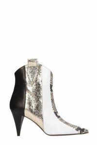 Marc Ellis Tex Black White Ankle Boots