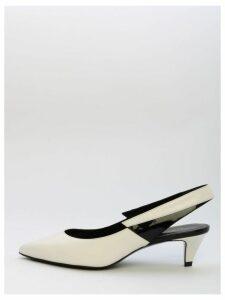 Celine Slingback White Leather