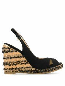 Jimmy Choo woven wedge sandals - Black