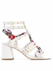 Ash block heel sandals - White