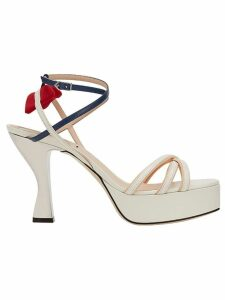Fendi strappy platform sandals - White