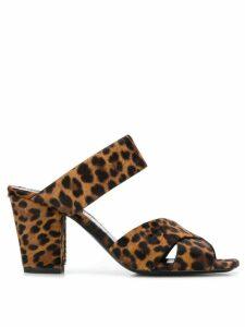 Saint Laurent Oak mule sandals - Brown