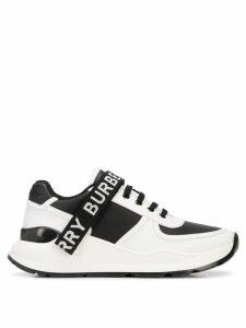 Burberry Logo strap sneakers - White
