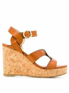 Jimmy Choo Aleili 100 sandals - Brown