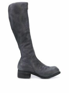 Guidi zip front knee boots - Grey