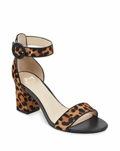 Marc Fisher Ltd. Women's Karlee Leopard Print Block Heel Sandals
