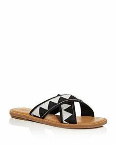 Toms Women's Viv Crisscross Slide Sandals