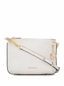 Michael Michael Kors logo chain shoulder bag - White