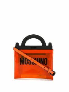 Moschino PVC Logo handbag - ORANGE