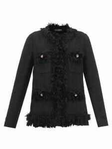 Rhode - Lena Heart Jacquard Cotton Blend Wrap Dress - Womens - Navy