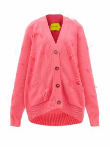 Rhode - Nala Heart-jacquard Cotton Mini Dress - Womens - Navy