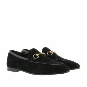 Gucci Loafers & Slippers - Jordaan GG Loafers Velvet Black - black - Loafers & Slippers for ladies