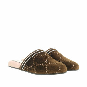 Gucci Loafers & Slippers - GG Velvet Slipper Brown - brown - Loafers & Slippers for ladies
