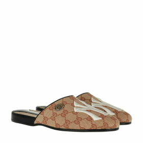 Gucci Loafers & Slippers - GG NY Yankees Patch Slipper Beige - beige - Loafers & Slippers for ladies