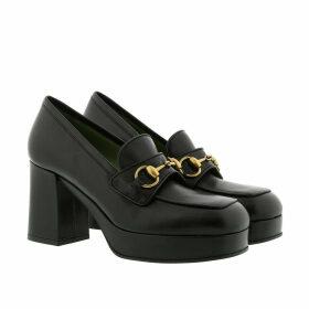 Gucci Pumps - Platform Loafer Horsebit Leather Nero/Nero - black - Pumps for ladies
