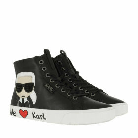Karl Lagerfeld Sneakers - Skool Karl Ikonic Hi Lace Black - black - Sneakers for ladies