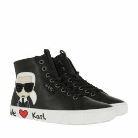 Karl Lagerfeld Sneakers - Skool Karl Ikonic Hi Lace Black - black - Sneakers for ladies