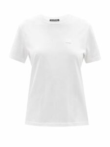 Queene And Belle - Moon Pleat-front Cotton Voile Shirt - Womens - Navy
