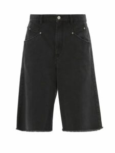 M.i.h Jeans - Colt Band-collar Cotton-seersucker Shirt - Womens - Red