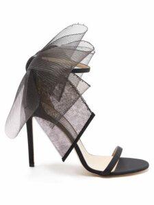 Ganni - Leopard And Moon-print Tiered Poplin Midi Dress - Womens - Blue Multi