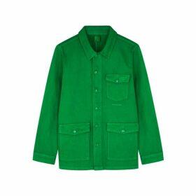 MC OVERALLS Green Denim Jacket