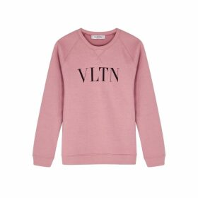 Valentino VLTN-print Stretch-cotton Sweatshirt