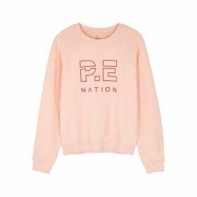 P.E Nation Shuffle Pink Logo Cotton Sweatshirt