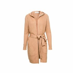 VHNY - Camel Knit Cardigan With Waist Belt