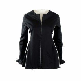 Nemozena - Reversible Zipped Peplum Shape Jacket