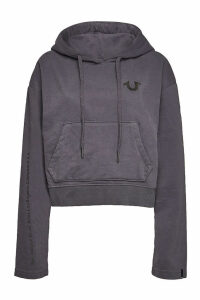 True Religion Cropped Cotton Hoody