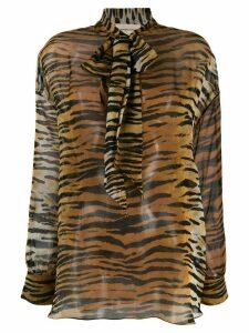 Alexandre Vauthier tiger print blouse - Neutrals