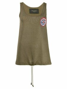 Mr & Mrs Italy embroidered tank top - Green