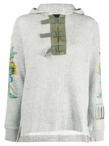 Mr & Mrs Italy buckle fastened hoodie - Grey