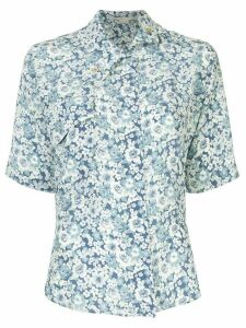 Stella McCartney short sleeved floral shirt - Blue