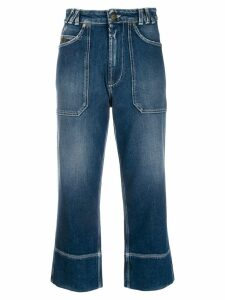 Mr & Mrs Italy cropped jeans - Blue