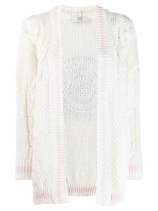 Mr & Mrs Italy chunky knit cardigan - White