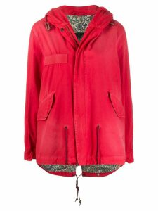 Mr & Mrs Italy zip up rain jacket - Red