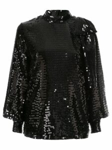MSGM sequin bow blouse - Black