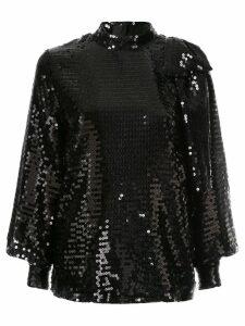 MSGM sequin bow blouse - Black