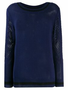 Mr & Mrs Italy mesh detail sweater - Blue