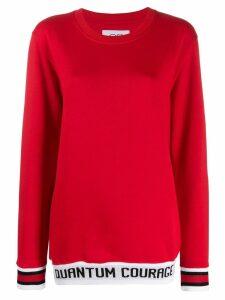 Quantum Courage branded stripe sweatshirt - Red