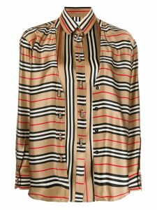 Burberry double-layer Icon Stripe shirt - NEUTRALS