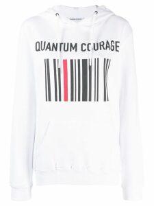 Quantum Courage logo print hoodie - White