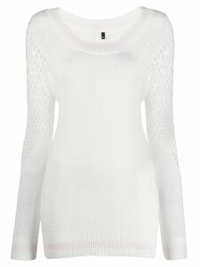 Mr & Mrs Italy mesh detail sweater - White
