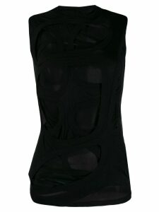Rick Owens cut out T-shirt - Black